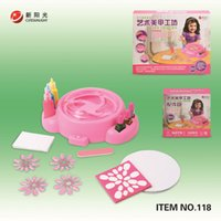 art workshops - WJA1383 Children s Creative Workshop manual electric nail art diy toys handmade toys girl toy g