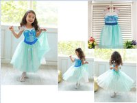 Cheap In stock!Ice snow princess dress wholesale,ELSA veil girls dress,noble kids clothes,onsale,Frozen children clothing,cheap,china.5 pcs.ZW