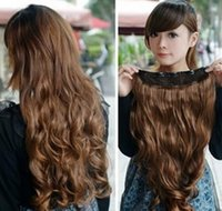 extension natural hair curl - human hair extensions wig One Piece long curl curly wavy hair extension clip on