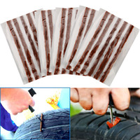 Wholesale 50x Tubeless Tire Tyre Puncture Repair Kit Strips Plug Car Van Truck Bike x10cm M05007