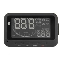 Wholesale Universal ActiSafety Multi Car HUD Vehicle mounted Head Up Display System OBD II Fuel Consumption Overspeed Warning Brand New