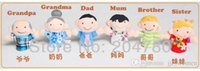 Cheap factory price new 6pcs pack Finger Plush Puppet Happy Family Story Telling Dolls Support Children Baby Educational Toys Wholesale 80523