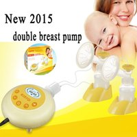 breast pump - 2016 New KinYo Double Electric Breast Pump Baby Milk Double Core Bottle silent automatic avent Double Sides Nursing breast pumps