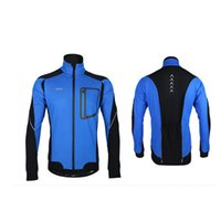 Wholesale Blue Color Winter Warm Windproof Thermal Cycling Long Sleeve Jacket Bicycle Clothing Jersey MTB Mountain Bike Jacket CYC_70F