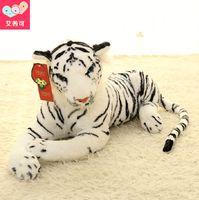 baby tiger stuffed animal - Kawaii Cute White Tigers Plush Toys Simulation Tigers Stuffed Dolls Baby Pillow Plush Kid Toys