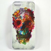 apple sugars - Unique Floral Sugar Skull Hard Plastic Back Phone Carrying Case Cover For IPhone S S C Plus