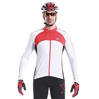 Wholesale MYSENLAN Men s Cycling Tops Jerseys Long Sleeve Bike Spring Autumn Thermal Warm Breathable Quick Dry Wearable Windproof