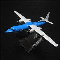 airlines klm - cm Alloy Metal AIR KLM Fokker F50 F PH KVI Airlines Airways Airplane Model Plane Model W Stand Aircraft Toy