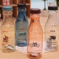 Wholesale Korea stationery wheat and MH1404 ml Downton Abbey plastic soda bottles glass cup