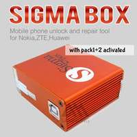 Cheap Wholesale-100% original sigma box +Pack 1 +Pack 2 activation +9cables for t MTK-based Motorola Alcatel Huawei ZTE and Lenovo free shipping