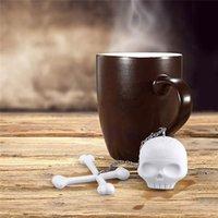 bamboo leaf tea - New Arrival Fashion Silicone Skull Tea Infuser Loose Tea Leaf Strainer Herbal Spice Filter Diffuser