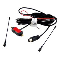 Wholesale 50pcs for Car IEC Active antenna with built in amplifier for digital TV easy to install