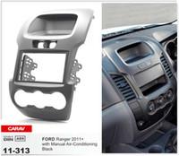 Wholesale CARAV CAR radio installation dash mount kit stereo install for FORD Ranger Manual Air Conditioning Black DIN