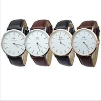 Wholesale 2015 Fashion Sport Watch DW Geneva Watches Quartz Mens Watches Automatic Luxury Women Christmas Leather strap Daniel Wellington