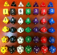 Wholesale Dungeons and Dragons Game MM D4 D6 D8 D10 D12 D20 Dice and D D Game Dice Set with Bag Color Random