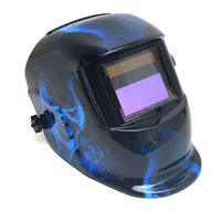 Wholesale Welding Helmet Mask Solar Auto Darkening Welding Helmet Arc Tig Mig Mask Weld Welder Lens Grinding Mask Blue ghost