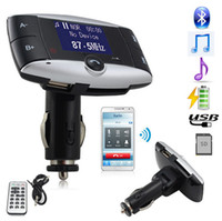 adapter south africa - New Handsfree Wireless Bluetooth Car Kit MP3 Player FM Transmitter Radio Adapter With LCD Remote Control For iPhone Samsung LG