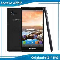Precio de Lenovo k900-La nueva llegada 6.0 pulgadas IPS Lenovo A889 MT6582 Quad Core RAM 1G 8G ROM de Android 8.0 megapíxeles de la cámara del teléfono 3G WCDMA WIFI GPS Bluetooth de envío gratuito