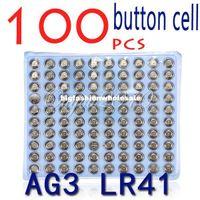lr41 button cell - 100pcs LR41 AG3 SR41W GP192A LR736 Button Watch Battery Cell Cion Batteries