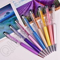 Wholesale 1500PCS HHA605 Luxury Diamond Crystal in Touch Screen Rhinestones Capacitive Stylus Ball Pen For Mobile Phone PC Tablet iPad