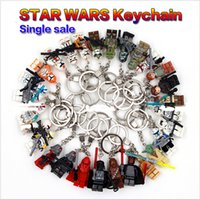 Wholesale New Star War Handmade Minifigures Key Chain Key Ring DIY Star Wars Customize Keychains Children Building Blocks Toys Gift Christmas Toy