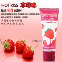 Wholesale Strawberry Lubricant ML Glorious Sex Lube for Lovers Irresistible Hot Kiss Cream for Sexual Life Top Quality Hot Sale R002