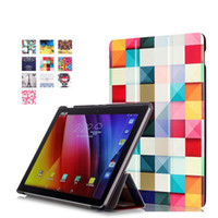 Wholesale Tri folding Painting Smart Stand Leather Case Cover For ASUS ZenPad10 Z300C Z300CG Z300CL P023 quot Tablet PC
