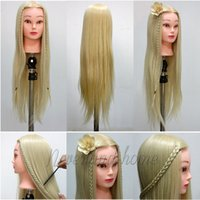 Wholesale 2015 High quality quot Blonde Hairdressing Training Head Mannequin Real Human Hair Free Clamp C10