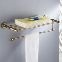 Wholesale Antique Space Aluminum Fashion Towel Rack Towel Bar Bathroom Shelf Bathroom Accessories
