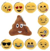 Wholesale Fashion Hot Cute Emoji Smiley Emoticon Amusing Key Chain Soft Toy Gift Pendant Bag Accessory