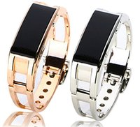 Cheap Bluetooth Luxury Smart Bracelet watch metal gold sliver Sync Wrist LED Digital Watch answer phone for iphone 4 5 6 Samsung Smartphone htc D8