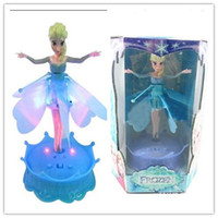 Wholesale 2015 Frozen Flying Doll quot Let It Go quot Sing With Light Induction Flying Fairy Toys