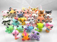 Free Shipping 50PCS Littlest Pet Shop LPS animali calcola il giocattolo Ramdon Kids Collection giocattolo regalo di compleanno