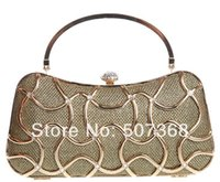 alloy clutch - New Women s Evening Clutch Purse Female Sequined Geometric Hard Box Handbag Day Clutch with Handle Shoulder Chain Color NO0808