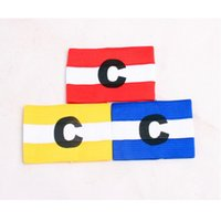 Wholesale New Top quality Soccer Gear Adjustable Captain Armband Stylish Trendy Football Games Player Arm Band Z0784