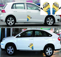 Wholesale 2015 Fashion New Cute Despicable Me Minions Car Stickers Decals Cars Auto Styling Decal