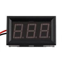 Wholesale Mini Digital Voltmeter Red LED Vehicles V Motor Voltage with reverse polarity protection functionHot New Arrival