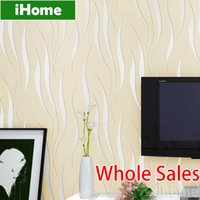 Wholesale 3D Non Woven Wall Paper Roll Fiber Texture Papel De Parede Modern Minimalist stripe Home Decor Living Bedroom TV Sofa Wallpaper
