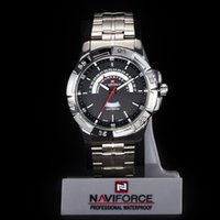 Wholesale 2015 New NAVIFORCE Fashion MEN Quartz Waterproof sport Steel military watch