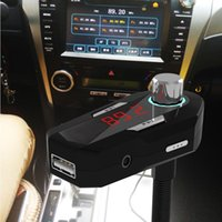Wholesale US Stock FM25 New Car FM Transmitter mm Car Audio Bluetooth Wireless Hands free USB Charger For Phones MP3