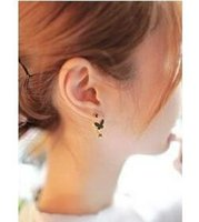 allergies cats - 2015 fashion jewelry double sided studs earrings for women piercings crystal Allergy day supply of cat earrings imported jewelry earrings cr