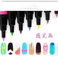 Wholesale Nail Art Pen Painting Design Tool Colors Optional Drawing Gel Made Easy DIY Nail Tool Kit statement BY DHL