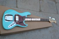 Wholesale Custom Shop F String cream blue Hot Electric Bass Guitar Jaguar High Quality beautiful and fashion Bestselling
