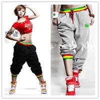 animal print dance costumes - XXXL women men PLUS SIZE palazzo pants hip hop dance costumes embroidery fleece disco pants jogger pants C286