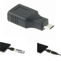 Wholesale Black USB Female to Micro USB Pin Male Plug OTG Adapter Converter