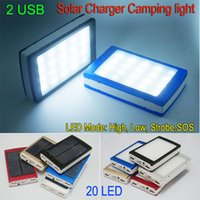 light bank - 30000mah Solar Battery Charger leds camping light Ports power bank solar camp lights External battery chargers SOS help For cellphone