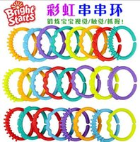 Wholesale Bright Starts rainbow rolls rings colourful Nursery Decor Hanging baby bed toys Mobiles noxious BPA free plastic