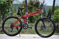 Wholesale folding bicycle inch folding bike disc brakes and speed mountain bike disc brakes MTB aluminum alloy frame