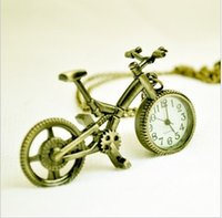 antique bicycle shop - FG Free Shopping Pocket watch antique fashion High Quality cartoon alloy bicycle pocket watch