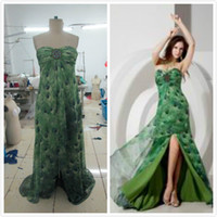 Reference Images Sweetheart Chiffon Stunning Beach 2015 Evening Dresses Peacock color Chiffon Summer Bead A-Line Floor Length Red carpet Prom Party Formal Ball Gown Custom Made